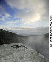 Gulfoss and blue sky - Gulfoss waterfall and blue sky...