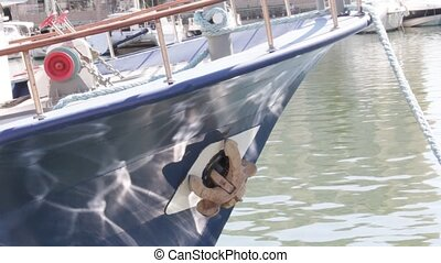 Reflection on the yacht board