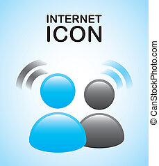 internet icon over blue background vector illustration