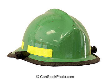 firemans hat isolated - firemans safety hard hat isolated...