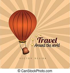travel design over grunge background vector illustration
