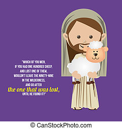 jesuschrist - jesuschrist design over purple background...