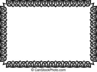Vector photo frame - Vector celtic photo frame