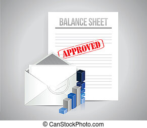 balance sheet approved concept illustration design...