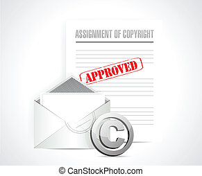 assignment of copyright approved concept