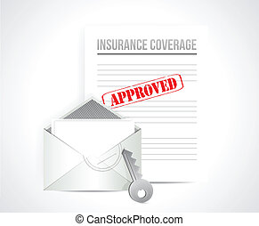 insurance coverage approved concept illustration design...