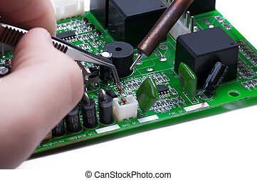 Electronic lab working place - Electronic technician...