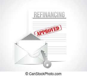 refinancing approved concept illustration design