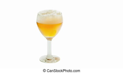 Beer with foam in the glass