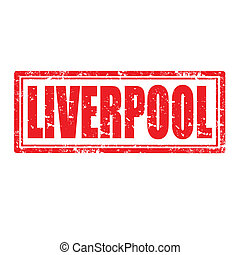 Liverpool-stamp - Grunge rubber stamp with word...