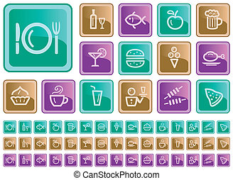 Food and drink buttons