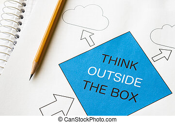 Think Outside the Box - Think outside the box concept graph...