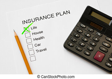 Insurance Plan - Insurance plan thick box diagram with tick...
