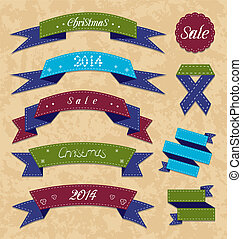 Christmas collection variation labels and ribbons -...