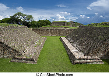 Monte Alban - The Juego de Pelota or Ball Court, Monte...