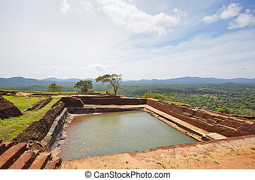Sigiriya - Pool on the top of Sigiriya in Sri Lanka....