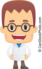 scientist in various poses for use in advertising,...
