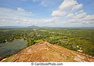 Sigiriya - View from the top of Sigiriya in Sri Lanka....