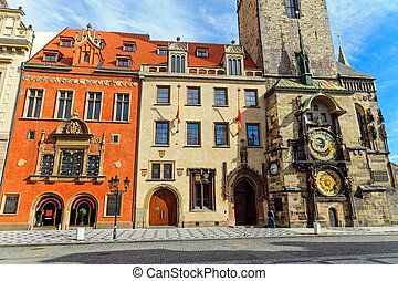 Buildings and astronomical clock