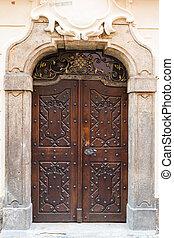 Old massive door