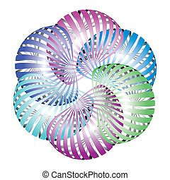 Abstract flower icon - looped shape icons - flower business...