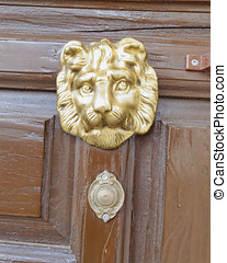 lion head door knob