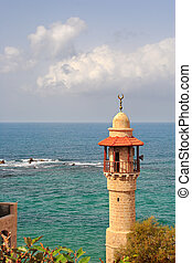 Old mosque. Yafo, Israel. - Vertical oriented image of old...