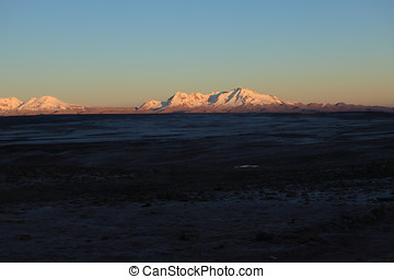 Sunrise in the Andes