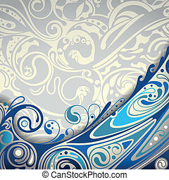 Abstract Blue Curve Background - Illustration of Abstract...