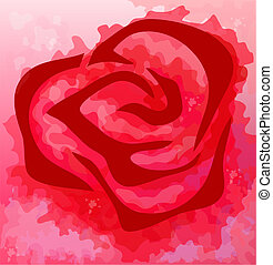 Abstract rose flower background. Eps 10