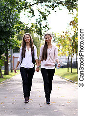 Two sisters young women
