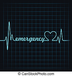 heartbeat make emergency text and heart symbol stock vector...