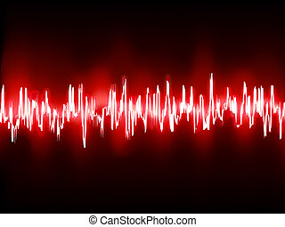 Electronic sine sound or audio waves. EPS 10 vector file...
