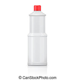 White bleach bottle. - White plastic bottle for bleach,...