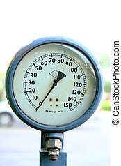 Pressure Gauge - vintage pressure gauge for vehicle at the...