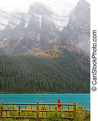 Rocky Mountain Lake - Beautiful Rocky Mountain lake in...