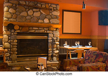 Restaurant Dining Room - Interior of a classy and delicious...