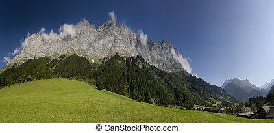 Idyllic alpine mountain
