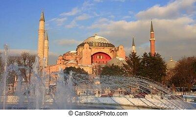 Hagia Sophia. Slow Motion, 60 fps - Hagia Sophia, famous...