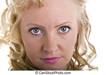Curly Blonde Closeup