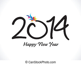 abstract artistic new year text