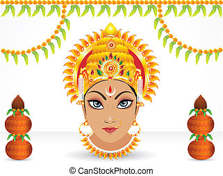 abstract navratri festival wallpaper vector illustration