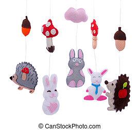 animais, brinquedos