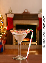 christmas candy cane martini
