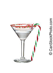 clear candy cane martini