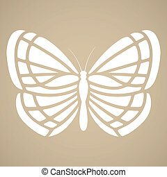 Butterfly silhouette Tattoo style - Butterfly silhouette in...