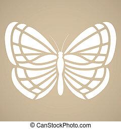 Butterfly silhouette. Tattoo style - Butterfly silhouette in...