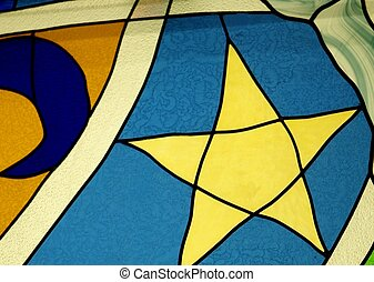 Stained Glass Design - A section of a stained glass design...