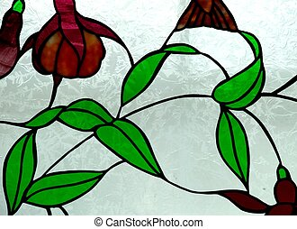 Stained Glass Design - A stained glass design featuring...