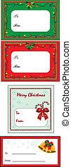 Christmas Gift Tags - A set of four Christmas gift tags,...